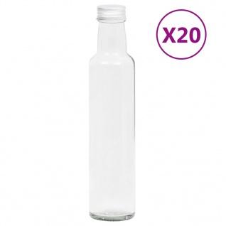 vidaXL Kleine Glasflaschen 260 ml mit Schraubverschluss 20 Stk.