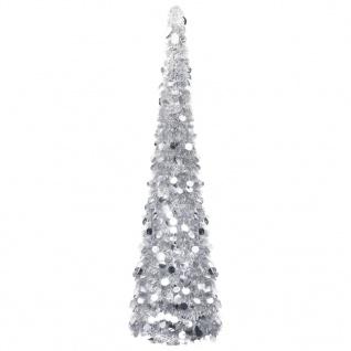 vidaXL Künstlicher Pop-Up-Weihnachtsbaum Silbern 150 cm PET