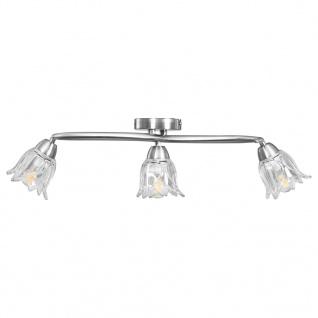 vidaXL Deckenleuchte mit Glasschirmen für 3 E14 Glühlampen - Vorschau 4