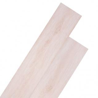vidaXL PVC Laminat Dielen Selbstklebend 5, 02 m² 2 mm Eiche Klassisch Weiß