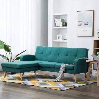 vidaXL Sofa in L-Form Stoffbezug 186 x 136 x 79 cm Grün