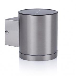 Smartwares Solar-Wandleuchte mit Sensor 0, 5 W Silbern GWS-001-DS