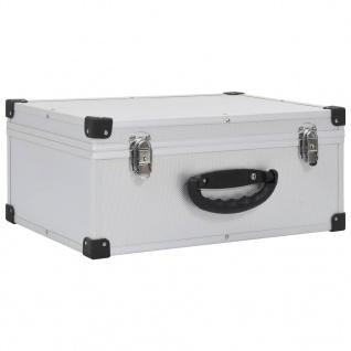 vidaXL CD-Koffer für 60 CDs Aluminium ABS Silbern - Vorschau 2
