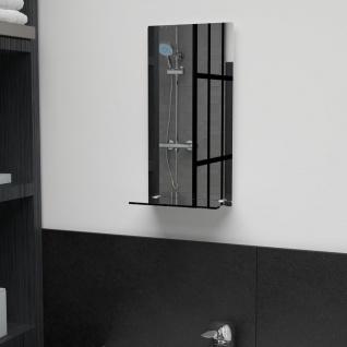 vidaXL Wandspiegel mit Regal 20×40 cm Hartglas