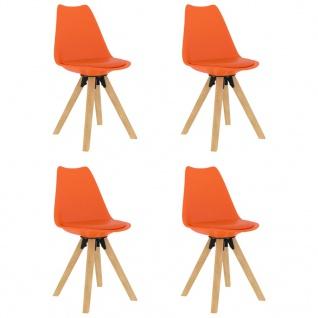 vidaXL Esszimmerstühle 4 Stk. Orange