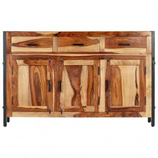 vidaXL Sideboard 120x35x75 cm Massivholz Palisander - Vorschau 2