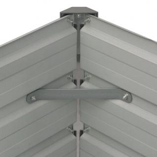 vidaXL Hochbeet 100 x 100 x 77 cm Verzinkter Stahl Grau - Vorschau 3