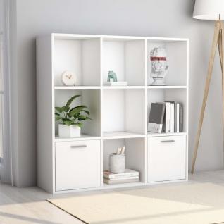 vidaXL Bücherregal Weiß 98 x 30 x 98 cm Spanplatte