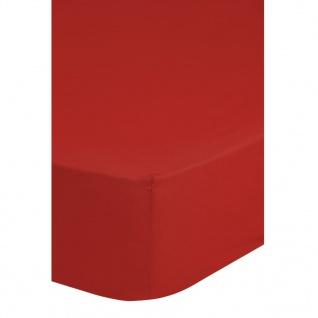 Emotion Bügelfreies Spannbettlaken 180 x 200 cm Rot 0220.80.46