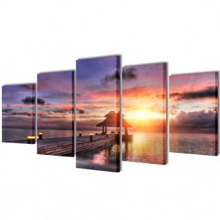 Bilder Dekoration Set Strand mit Pavillon 200 x 100 cm