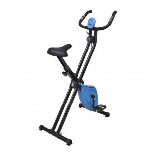 vidaXL Magnetischer Heimtrainer X-Bike mit Pulsmessung Schwarz Blau