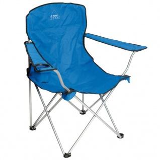 Camp Gear Klappbarer Campingstuhl Stahl Blau 1267188