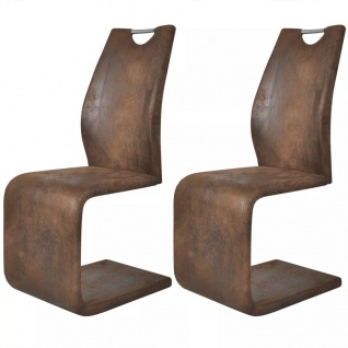 vidaXL Esszimmerstühle 2 Stk. Braun Kunstleder - Vorschau