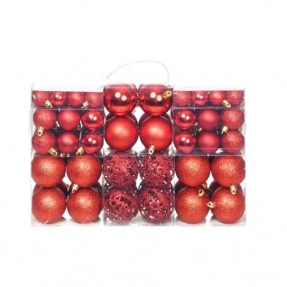 vidaXL 100-tlg. Weihnachtskugel-Set 6 cm Rot