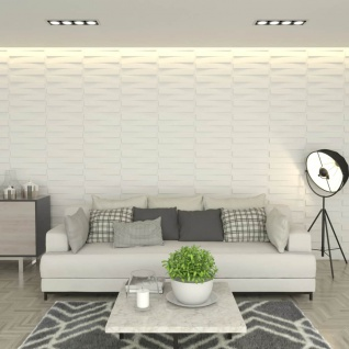vidaXL Wandpaneele 24 Stück 3D 0, 5 x 0, 5 m 6 m²
