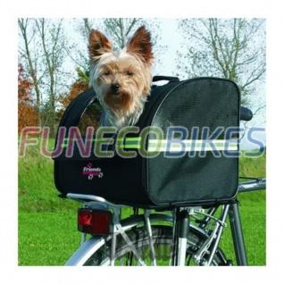 TRIXIE Fahrradtasche für Hunde 35x28x29 cm Schwarz 13112