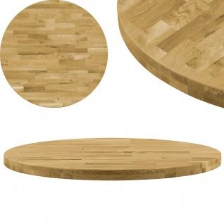 Vidaxl Tischplatte Eichenholz Massiv Rund 44 Mm 700 Mm Kaufen Bei