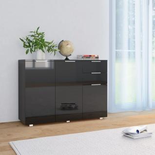 vidaXL Sideboard Hochglanz-Schwarz 107 x 35 x 76 cm
