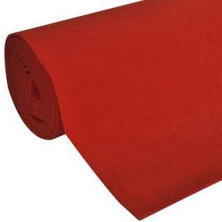 vidaXL Roter Teppich 1x5 m Extra Schwer 400 g/m² - Vorschau 2
