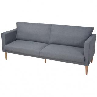 vidaXL 3-Sitzer Sofa Hellgrau Stoff