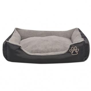 vidaXL Hundebett mit gepolstertem Kissen Größe S Schwarz - Vorschau 3