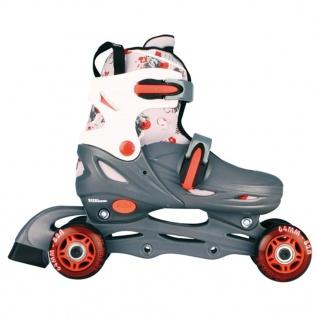 Nijdam Junior Inline Skates 27-30 grau/rot/weiß 52QM - Vorschau 3