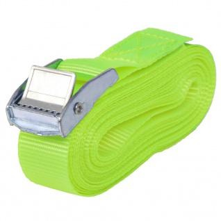 vidaXL Spanngurte 10 Stk. 0, 25 Tonnen 5m×25mm Neongrün - Vorschau 2