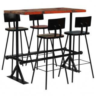 vidaXL Bar-Set 5-tlg. Massives Altholz Mehrfarbig