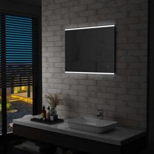 vidaXL Badezimmer-Wandspiegel mit LED und Touch-Sensor 80 x 60 cm