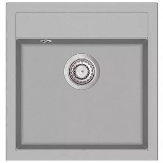 vidaXL Granit-Küchenspüle Einzelbecken Grau