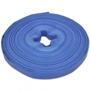 vidaXL Wasser-Flachschlauch 50 m 1 Zoll PVC