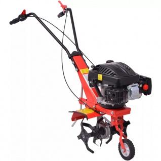 vidaXL Benzin Gartenfräse 5 PS 2, 8 kW Rot - Vorschau 4
