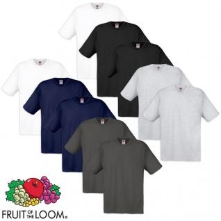 10 Fruit of the Loom Original T-Shirt Baumwolle Mehrfarbig XL