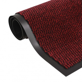 vidaXL Schmutzfangmatte Rechteckig Getuftet 80 x 120 cm Rot