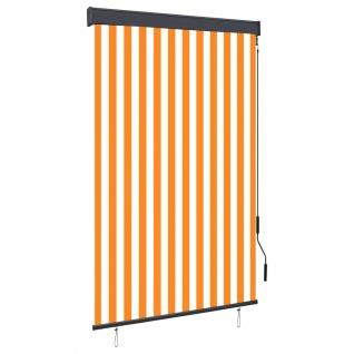 vidaXL Außenrollo 120 x 250 cm Weiß und Orange