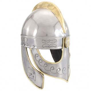 vidaXL Beowulf Helm Antik Replik für LARP Silbern Stahl