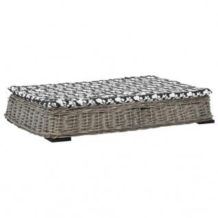 vidaXL Hundebett mit Kissen Grau 95x65x15 cm Naturweide Flach Design