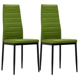 vidaXL Esszimmerstühle 2 Stk. Limettengrün Kunstleder
