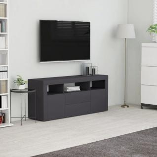 vidaXL TV-Schrank Grau 120x30x50 cm Spanplatte