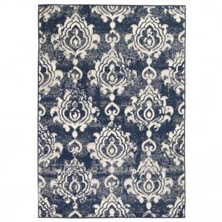 vidaXL Teppich Modern Barock-Ornamente Vintage 140 x 200 cm Beige/Blau