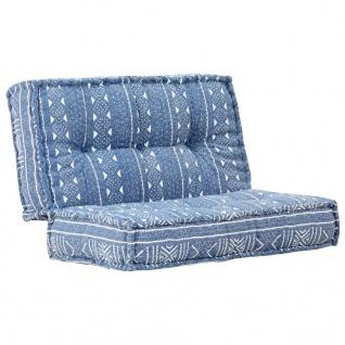 vidaXL Sofa 100×100×20 cm Stoff Indigo