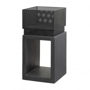 R'elite Feuerschale Quadrat mit Sockel in Granit-Optik 979756