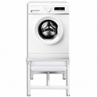 vidaXL Untergestell für Waschmaschine mit Ausziehablage Weiß - Vorschau 2