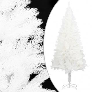 vidaXL Künstlicher Weihnachtsbaum Naturgetreue Nadeln Weiß 120 cm