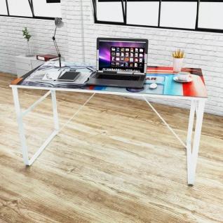 Schreibtisch mit Lifestyle Print