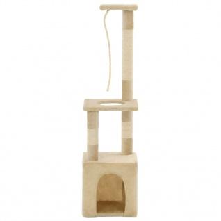 vidaXL Katzen-Kratzbaum mit Sisal-Kratzsäulen 109 cm Beige - Vorschau 2