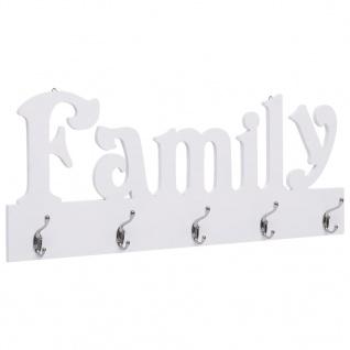 vidaXL Wandgarderobe FAMILY 74 x 29, 5 cm