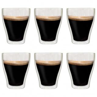 vidaXL Doppelwandige Latte-Macchiato-Gläser 6 Stk. 370 ml