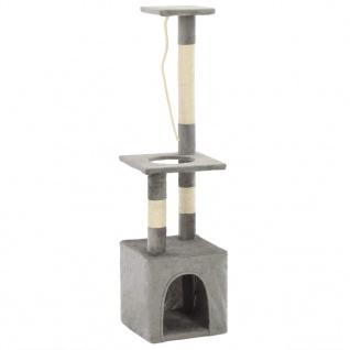 vidaXL Katzen-Kratzbaum mit Sisal-Kratzsäulen 109 cm Grau - Vorschau 3