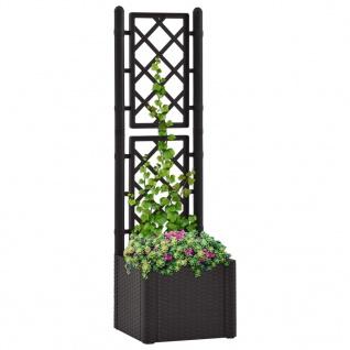 vidaXL Garten-Hochbeet mit Spalier Selbstbewässerungssystem Anthrazit